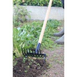 Binette sarcleuse ramasseuse de jardin avec ou sans manche