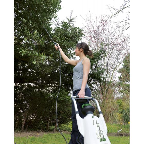 Pulvérisateur de jardin sur roues de 12 litres avec lance télescopique