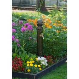 Fontaine borne de jardin en fonte Griffon vieux bronze