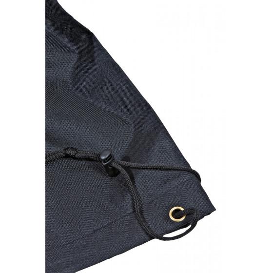 Housse de protection 4 chaises empilables noire