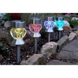 Balise solaire en verre multi facettes (les 4)