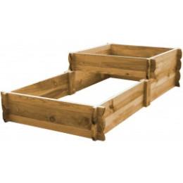 Carré potager en escalier en bois non traité