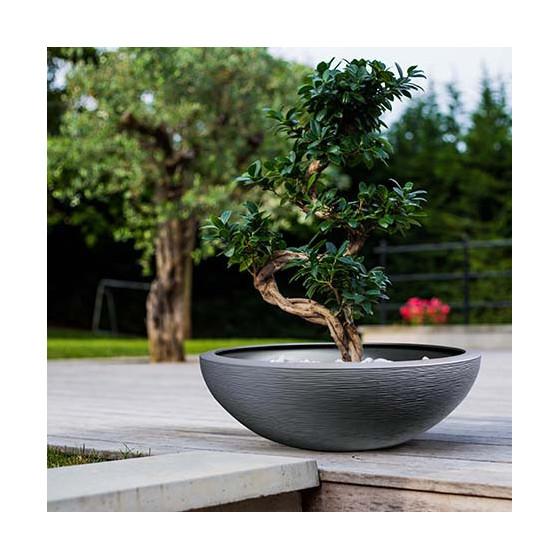 Vasque à fleurs 39 litres gris anthracite