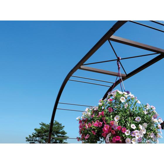 Arche de jardin double treillage large en acier fer vieilli