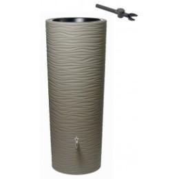 Récupérateur d'eau de pluie aspect sable 350 L couleur taupe