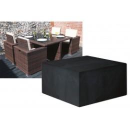Housse de protection salon de jardin encastrable noire