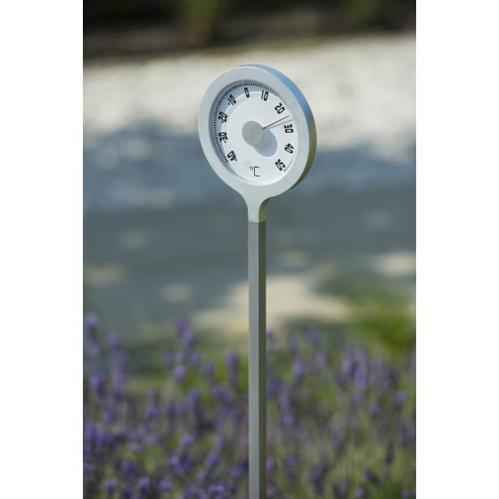 Thermomètre de jardin à planter en métal