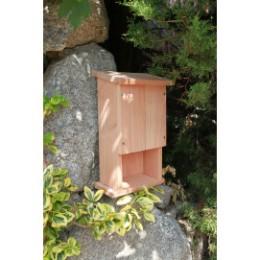 Abri a chauve souris en bois naturel