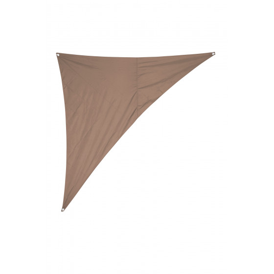 Voile d'ombrage triangulaire 2,8 x 2,8 x 4 m 265 gr/m2 sable