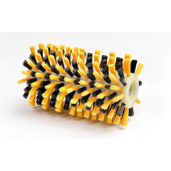 Brosse rotative pour terrasse en bois nervuré ou composite
