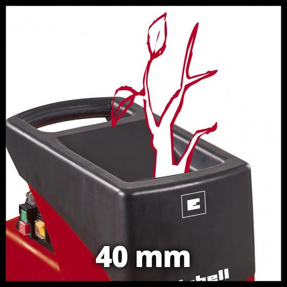 Broyeur de végétaux électrique Einhell avec sac 50 L