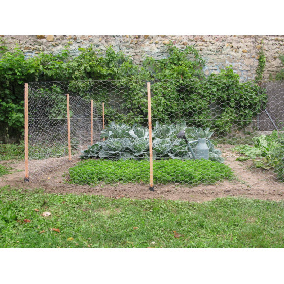 Kit de clôture potager en bois 10 m