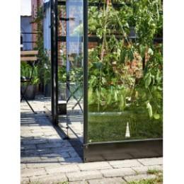 Embase en acier pour serre de jardin verre aluminium 3,9 m²