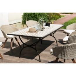 Table de jardin carreaux de ciment rectangulaire
