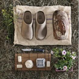 Sabot de jardin homme caoutchouc naturel kaki