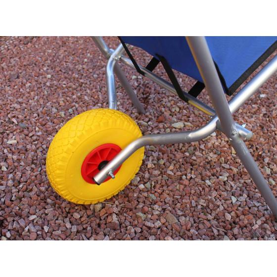 Brouette pliable en aluminium et toile avec roue increvable