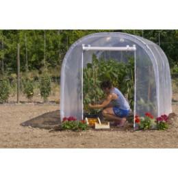 Serre de jardin tunnel 6 m2 pied droit 1 porte zippée
