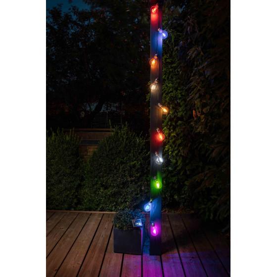 Guirlande solaire guinguette multicolore