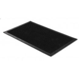 Tapis d'extérieur en caoutchouc rectangulaire noir à picots flexibles