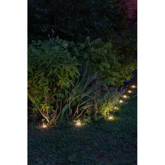 Guirlande solaire à planter 10 LED blanche 5,5 m