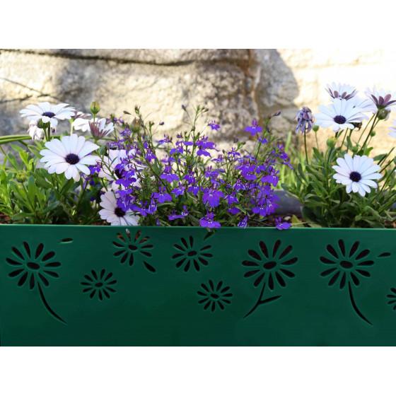 Zoom sur une bordure plastique pour jardin