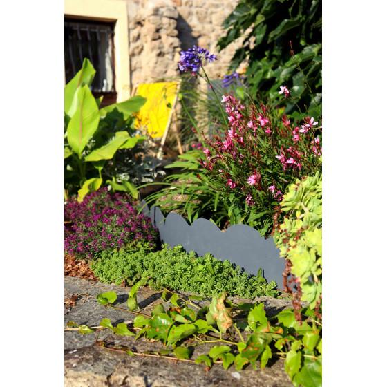 Une magnifique bordure de jardin en acier