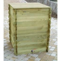 Réserve d'eau de pluie en bois 600 litres